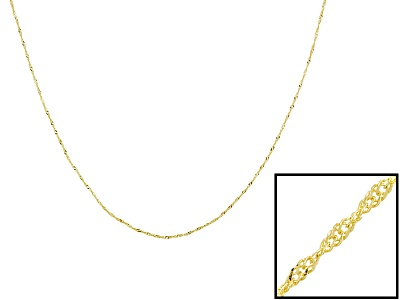 singapore chain  18k yellow
