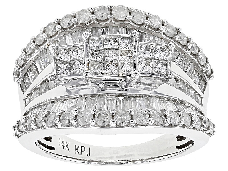 Diamond 2.00ctw Princess Cut With Round And Baguette 14k ...
