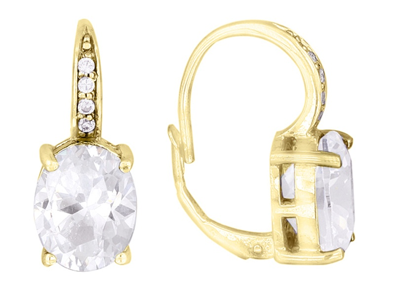 jtv luce earrings luce r 8 77ctw oval and 18k yellow gold 9402