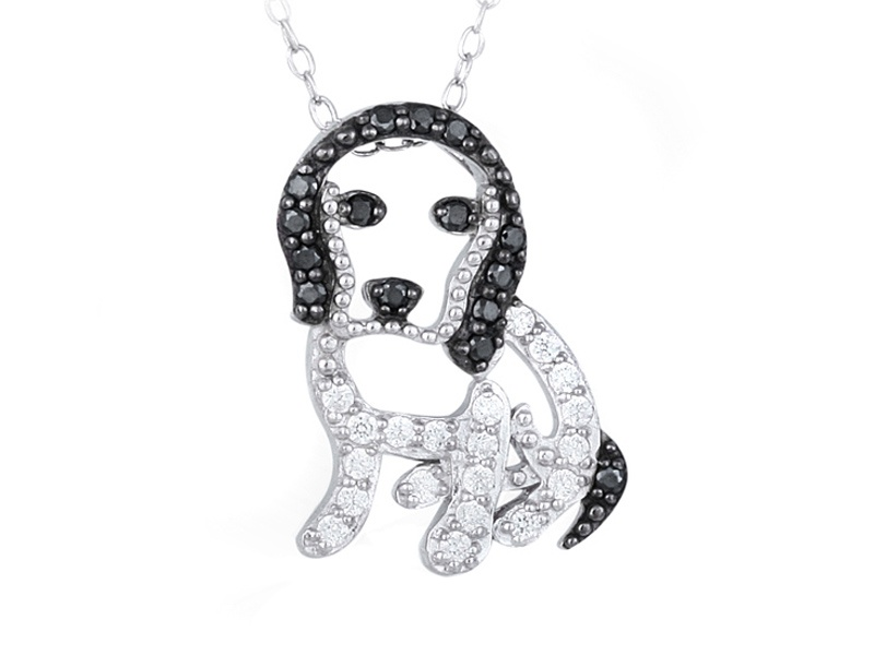 Bella Luce (R) .59ctw Rhodium Over Sterling Silver Dog