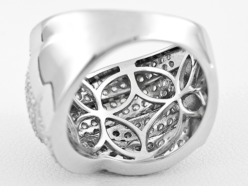 Bella Luce (R) 4.49ctw Rhodium Over Sterling Silver Ring