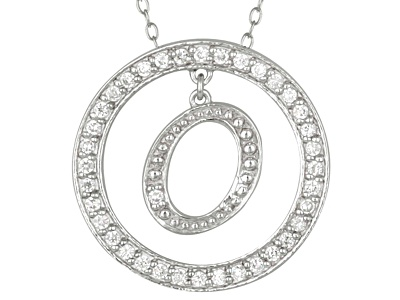 Bella luce r 107ctw round rhodium over sterling silver initial o bella luce r 107ctw round rhodium over sterling silver initial o pendant with 18 chain aloadofball Choice Image