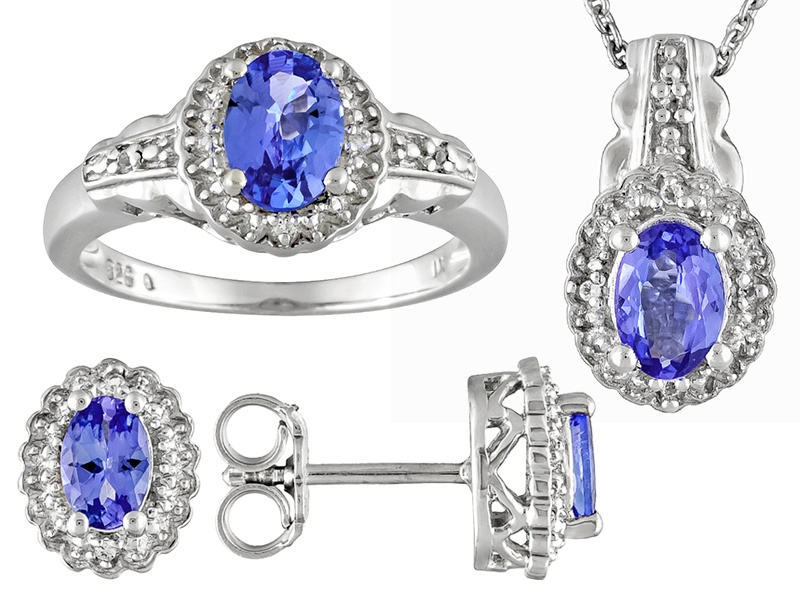 Tanzanite 2.38ctw With White Topaz .08ctw Sterling Silver ...