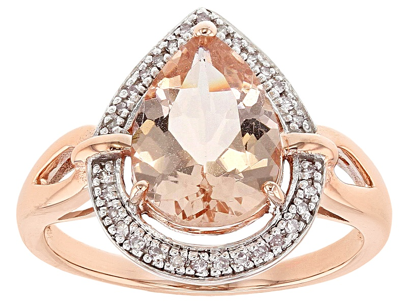 2.50ct Pear Shape Cor-de-rosa Morganite (Tm) With .069ctw ...