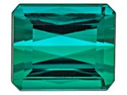 XTP035<br>Brazilian Untreated Blue Green Tourmaline 5.63ct 10.03x8.51mm Rect Oct W/ Gemworld Verific