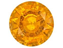 XTP953<br>Tanzanian Vivid Orange Spessartite Garnet 1.98ct 7.5mm Round With Gemworld Report
