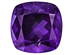 MYC499<br>Moroccan Amethyst With Needles Avg 12.50ct 15x15mm Square Cushion
