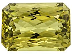 XTP1155<br>Afghanistan Yellow Green Spodumene 133.80ct 33.26x23.59x19.79mm Rectangular Octagonal Rad