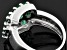 2 00ctw Oval Zambian Emerald Sterling Silver Ring