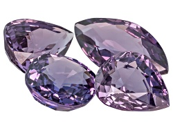 XTP1417<br>Vietnamese Purple Spinel Set Of Four 6.84ctw Mm Varies Mixed Shape