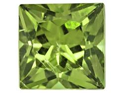 DMS006<br>Green Dragon Mine Demantoid Garnet Min .50ct  4.5mm Square Princess Cut