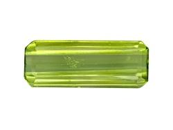 PEE035<br>Pakistani Kashmir Peridot 4.89ct 17x6.5mm Emerald Cut