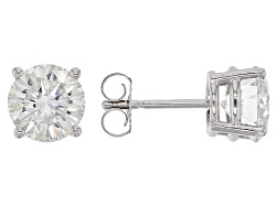 MSJ293W<br>Moissanite Fire(Tm) 2.40ctw Diamond Equivalent Weight Round 14k White Gold Stud Earrings
