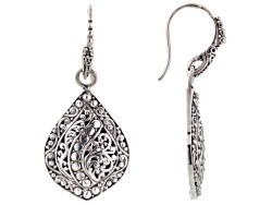 SRA327<br>Artisan Gem Collection Of Bali(Tm) Sterling Silver Filigree Dangle Earrings