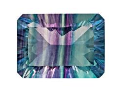 FLE200<br>Chinese Bi-color Fluorite Minimum 9.00ct Mm Varies Rectangular Octagonal Cut