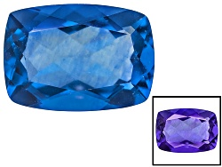 FL021<br>Color Change Blue Fluorite Minimum 8.00ct 14x10mm Rectangular Cushion Mixed Cut