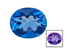 FL025<br>Color Change Blue Fluorite Minimum 5.00ct 12x10mm Oval Mixed Cut