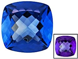 FL091<br>Color Change Blue Fluorite Minimum 26.25ct 18mm Square Cushion Mixed Cut