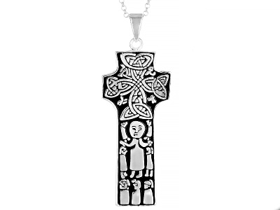 Collection of irelandtm st patrick celtic cross sterling silver artisan collection of irelandtm st patrick celtic cross sterling silver pendant with chain aloadofball Images
