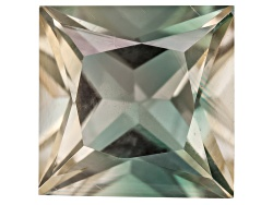 SN096<br>Green Oregon Sunstone From Butte Mine .90ct Minimum 6mm Square Princess Cut Color Varies