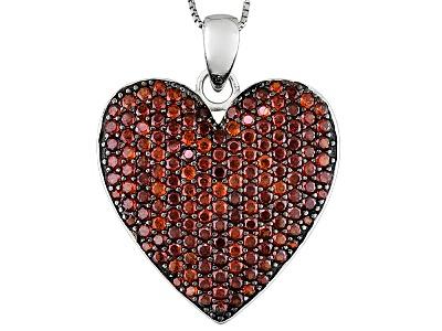 Ctw round vermelho garnettm sterling silver heart pendant with chain 515ctw round vermelho garnettm sterling silver heart pendant with chain mozeypictures Images