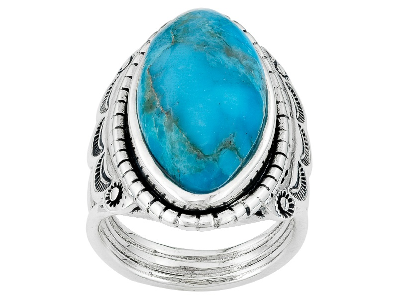 Southwest Style By Jtv Tm 22x11mm Marquise Blue Turquoise