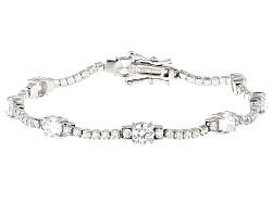 BMC845W<br>Bella Luce (R) 9.60ctw White Diamond Simulant Rhodium Over Sterling Silver Bracelet (5.57